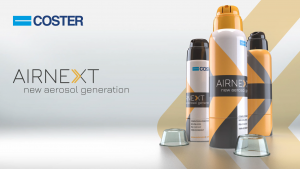 Bag-on-valve - plastic aerosol from Coster. New Airnext range of products.